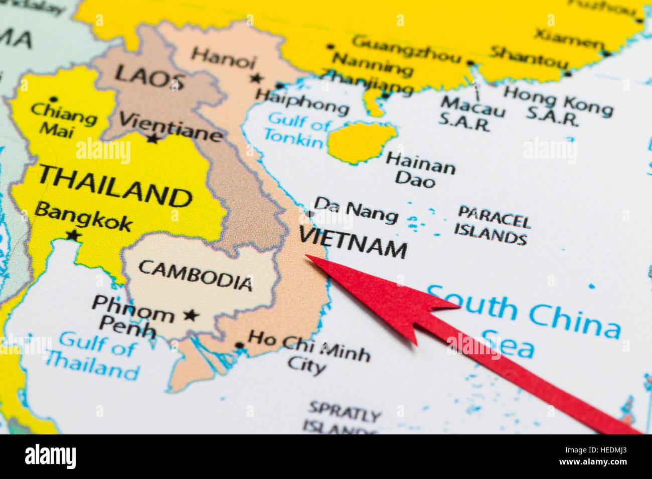 vietnam carte asie