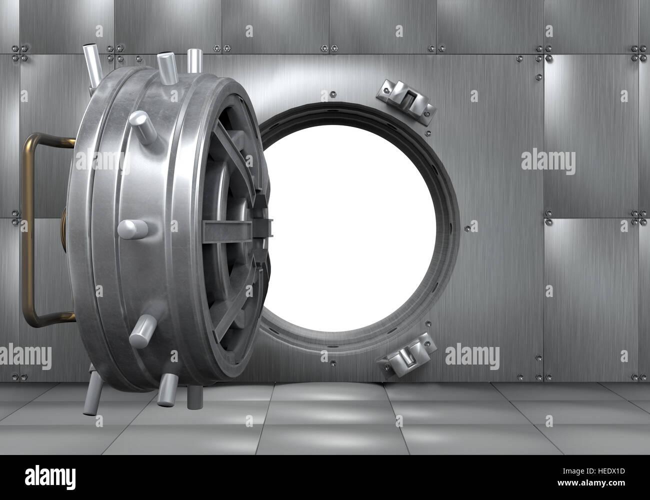 Ouvrir la porte de la chambre forte de la Banque Banque D\'Images ...