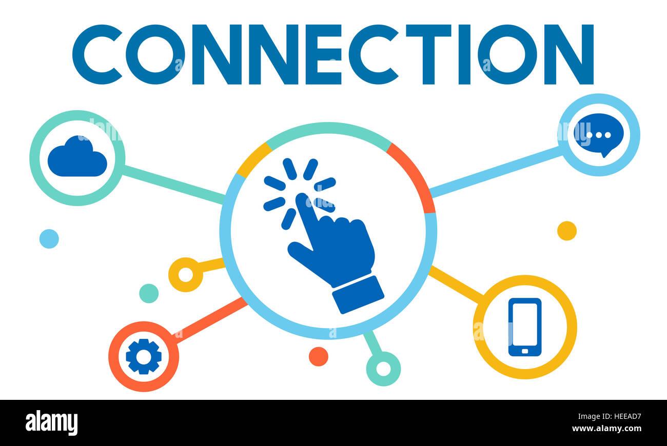La mise en réseau numérique de la technologie de communication Concept Photo Stock