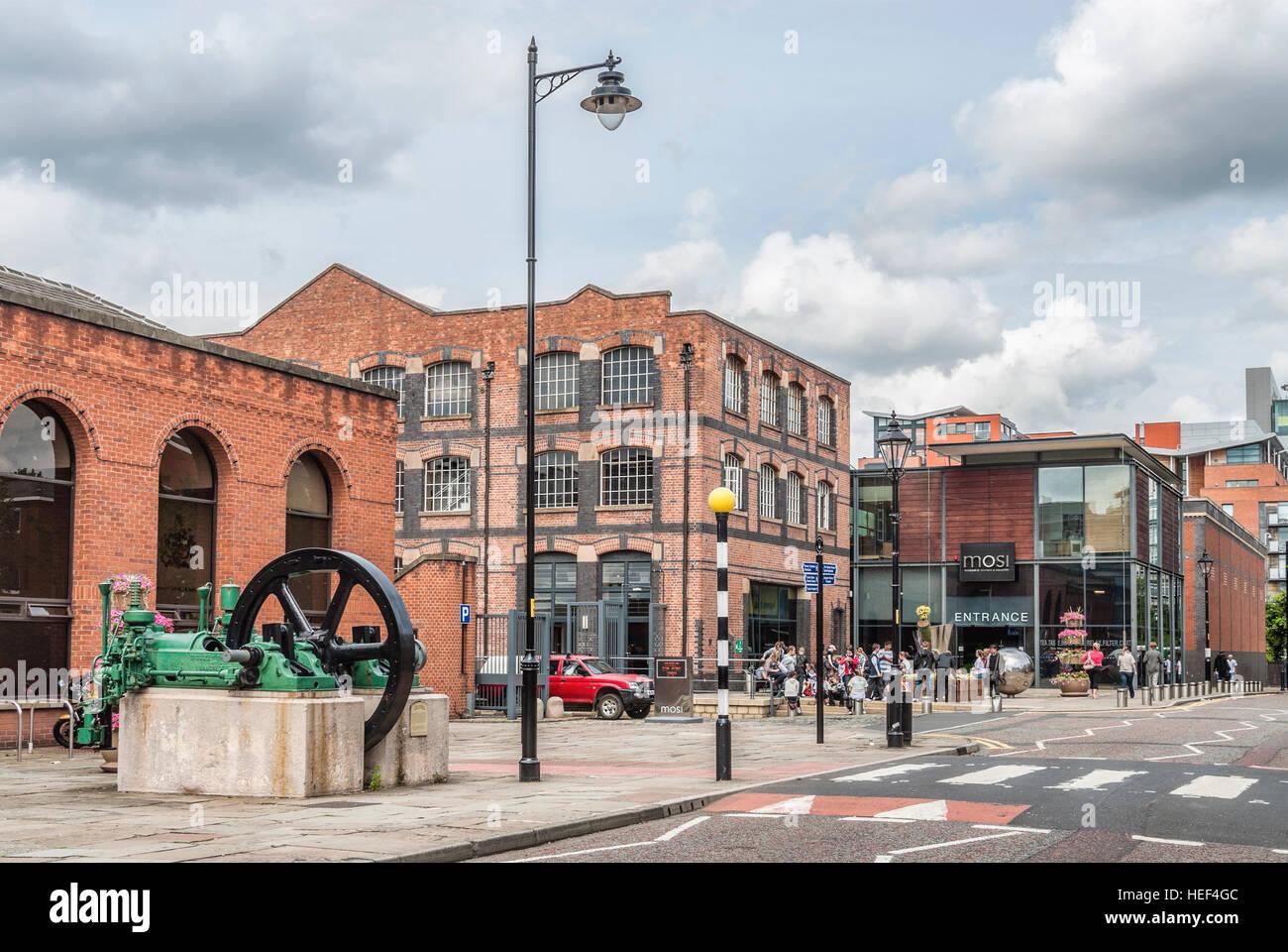 Le Musée des sciences et de l'industrie à Manchester (MOSI), situé à Manchester, Angleterre, Photo Stock