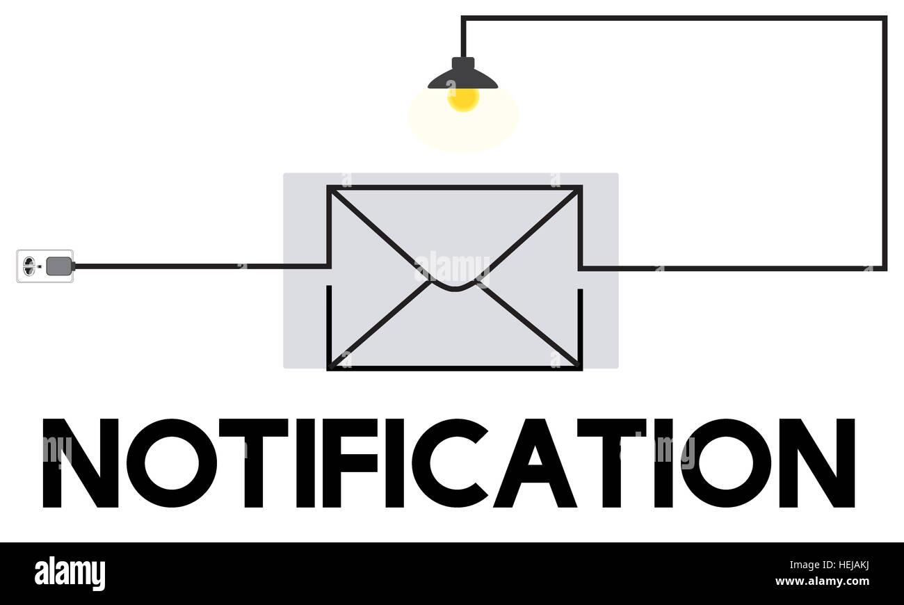 Boîte de message E-mail Communication Concept Photo Stock