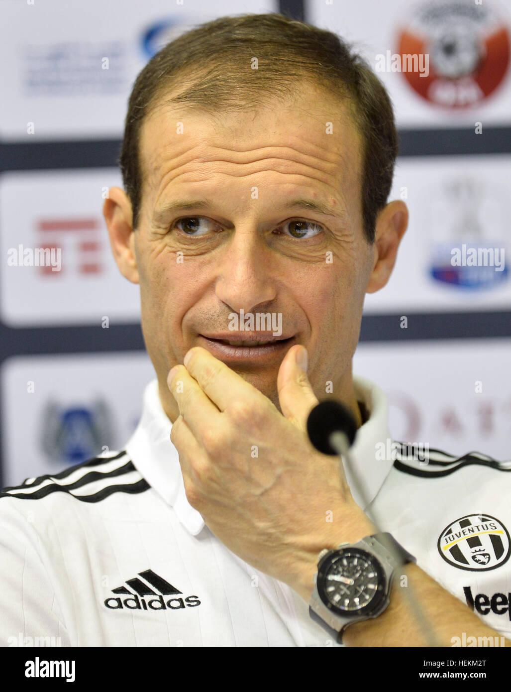 (161223) -- DOHA, le 23 décembre 2016, (Xinhua) -- la Juventus de' l'entraîneur-chef italien Massimiliano Photo Stock