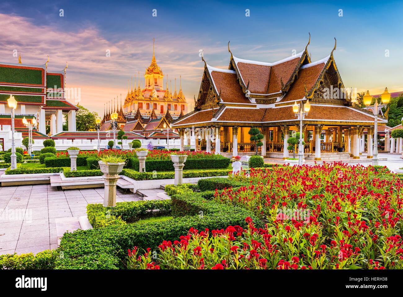 Temple Wat Ratchanatdaram à Bangkok, Thaïlande. Photo Stock