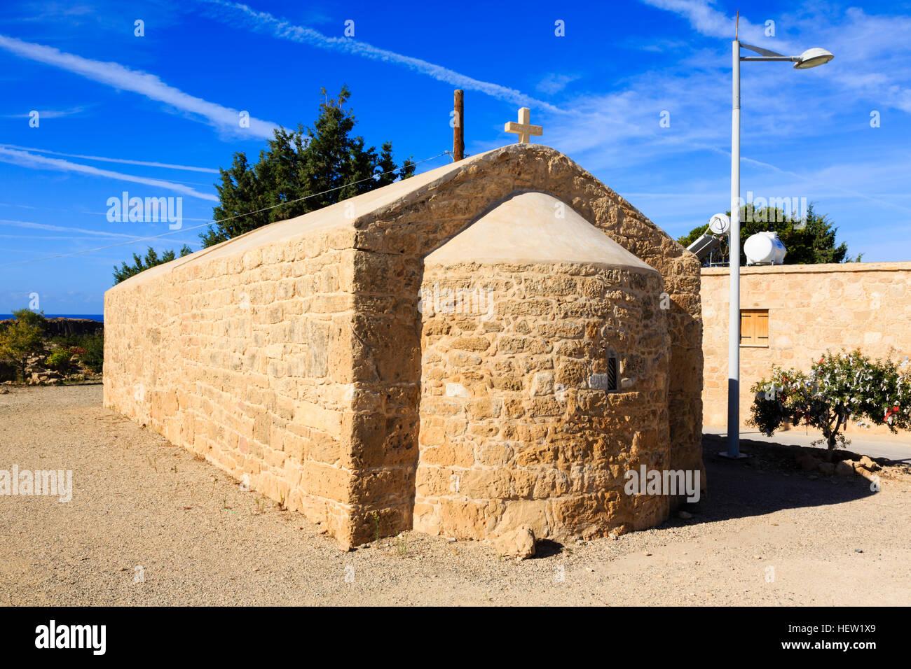 Première église d'Agios Georgios, Paphos, Chypre. Photo Stock