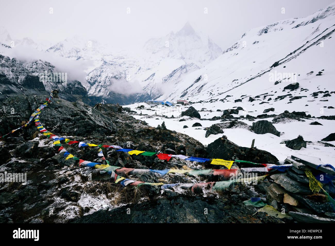 ABC (Annapurna Base Camp trek trek), Népal Photo Stock