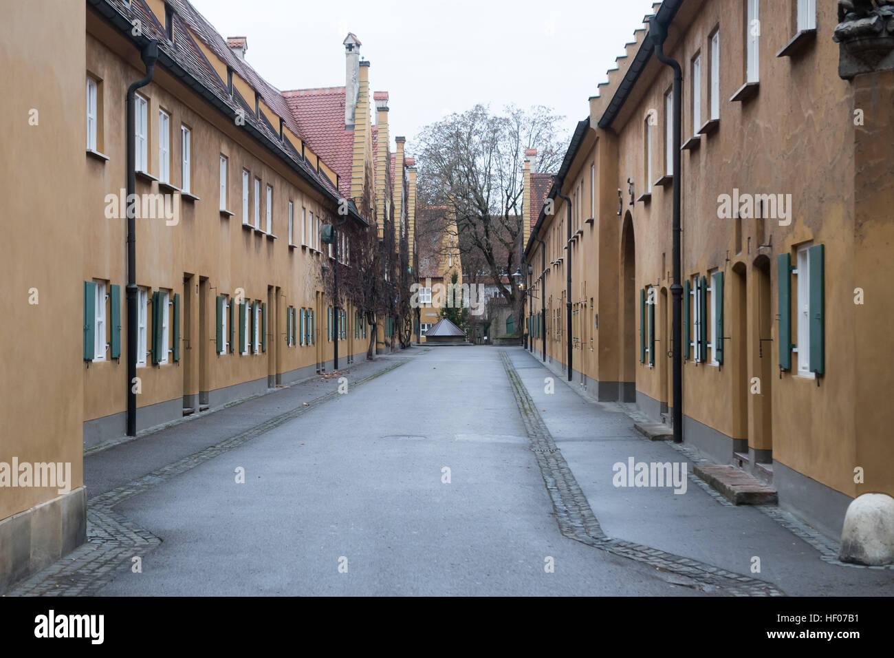 Len Augsburg fuggerei augsburg photos fuggerei augsburg images alamy