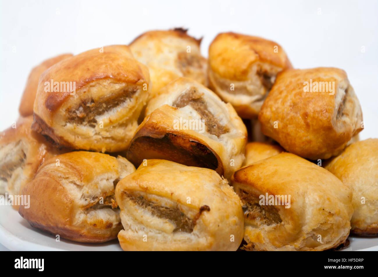 Mini rouleaux Saucisse (Focus en premier plan) Photo Stock