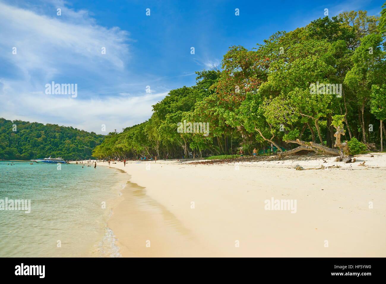 Plage de Koh Rok), province de Krabi, Thaïlande Photo Stock