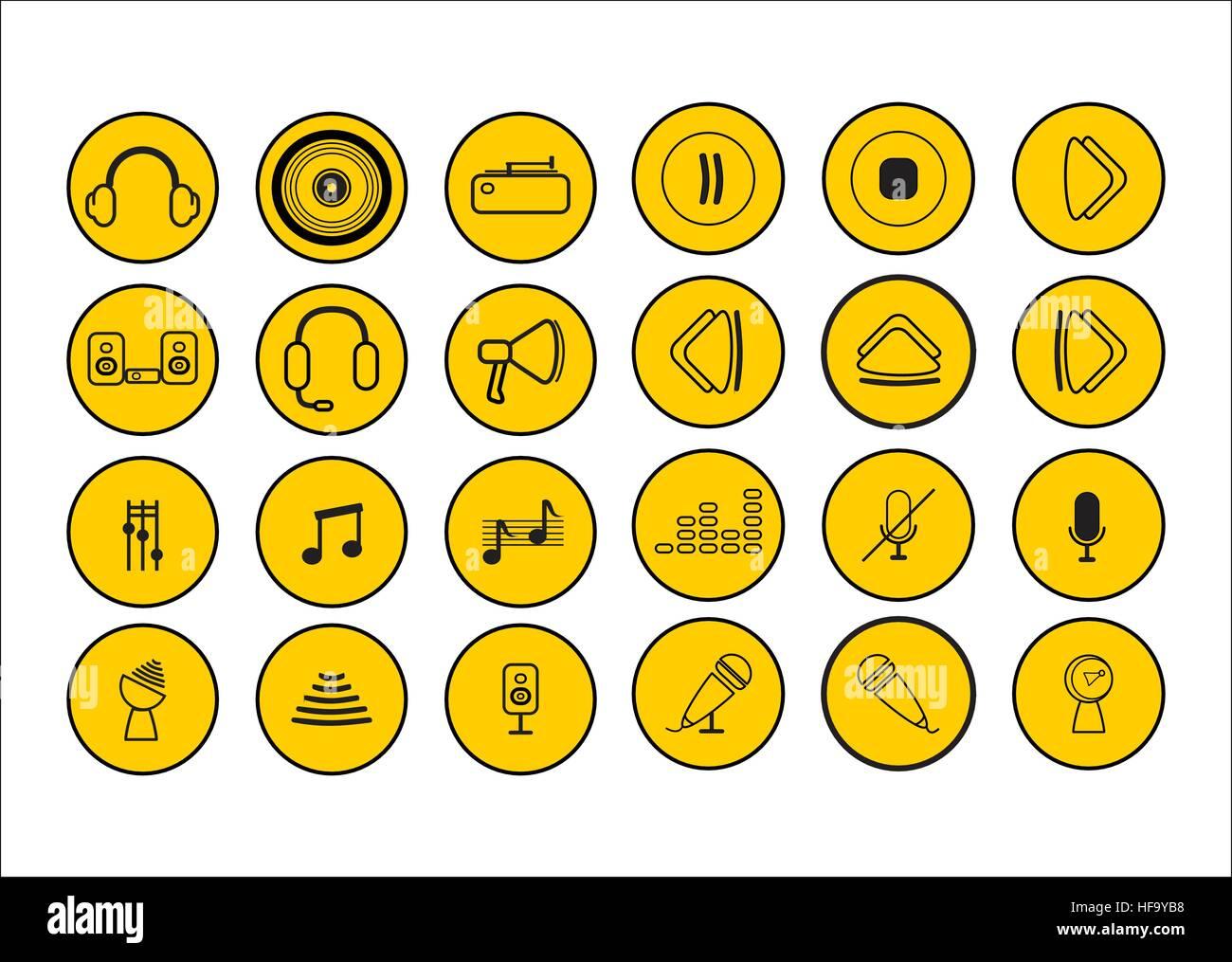 icônes de la musique Photo Stock