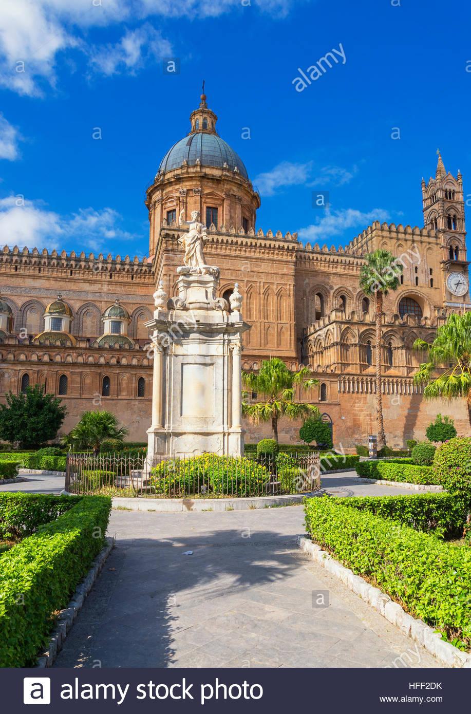 La cathédrale de Palerme, Palermo, Sicily, Italy, Europe, Photo Stock