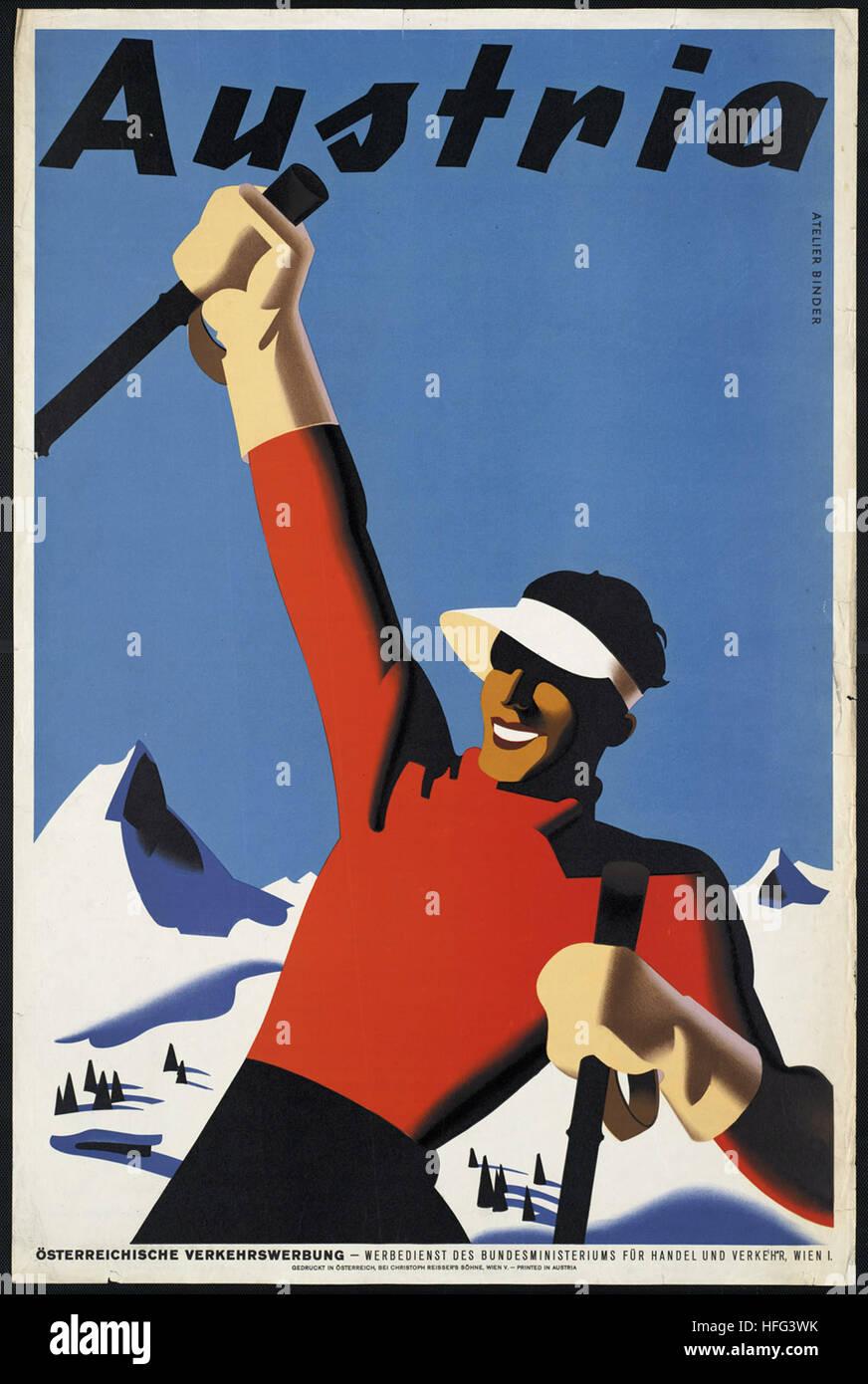 Vintage Travel Poster - Autriche Banque D'Images