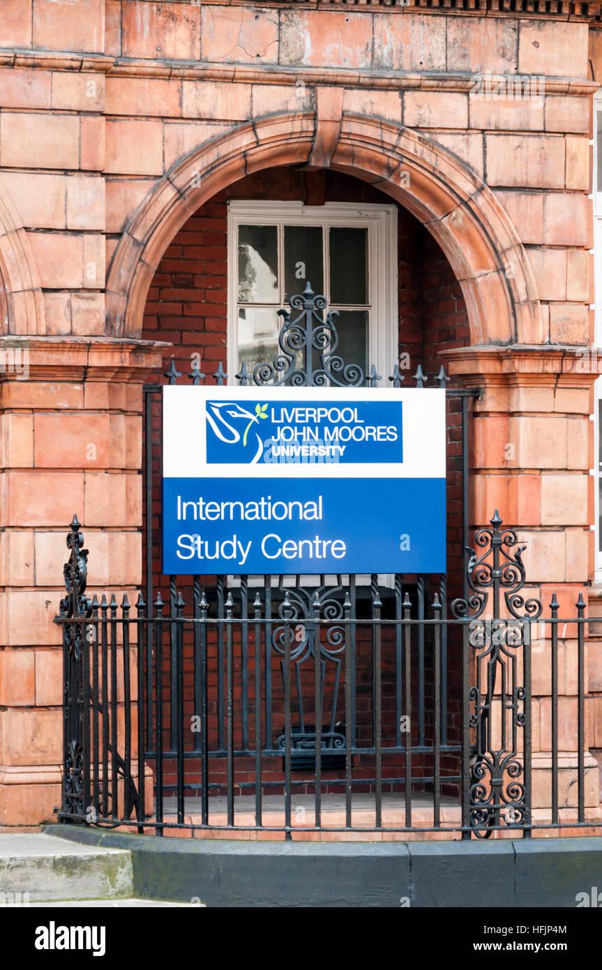 Centre d'études internationales de l'Université John Moores de Liverpool. Photo Stock