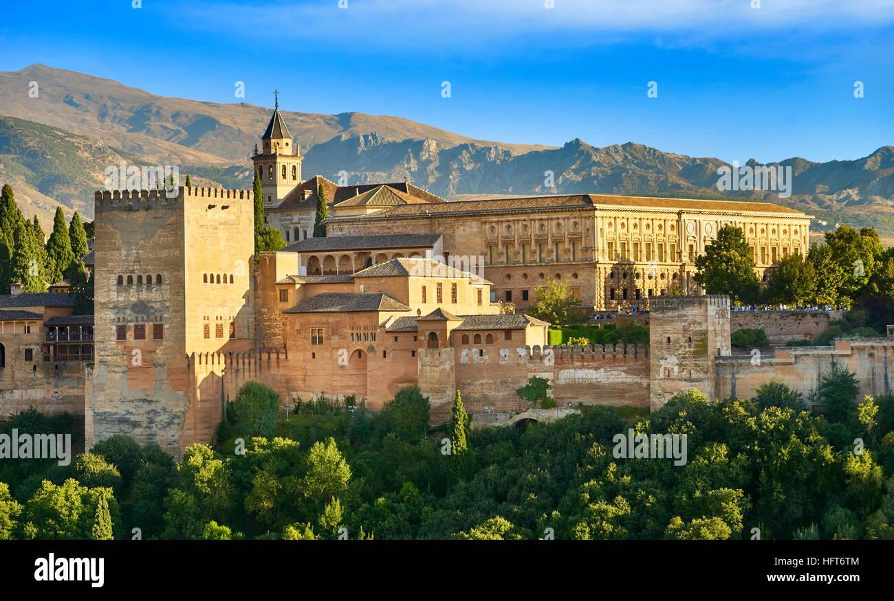 Palais de l'Alhambra, Grenade, Andalousie, Espagne Photo Stock