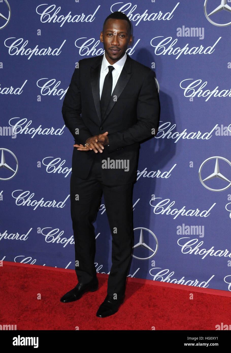 Palm Springs, CA, USA. 2 Jan, 2017. 02 janvier 2017 - Palm Springs, Californie - Mahershala Ali. 2017 Festival International Photo Stock