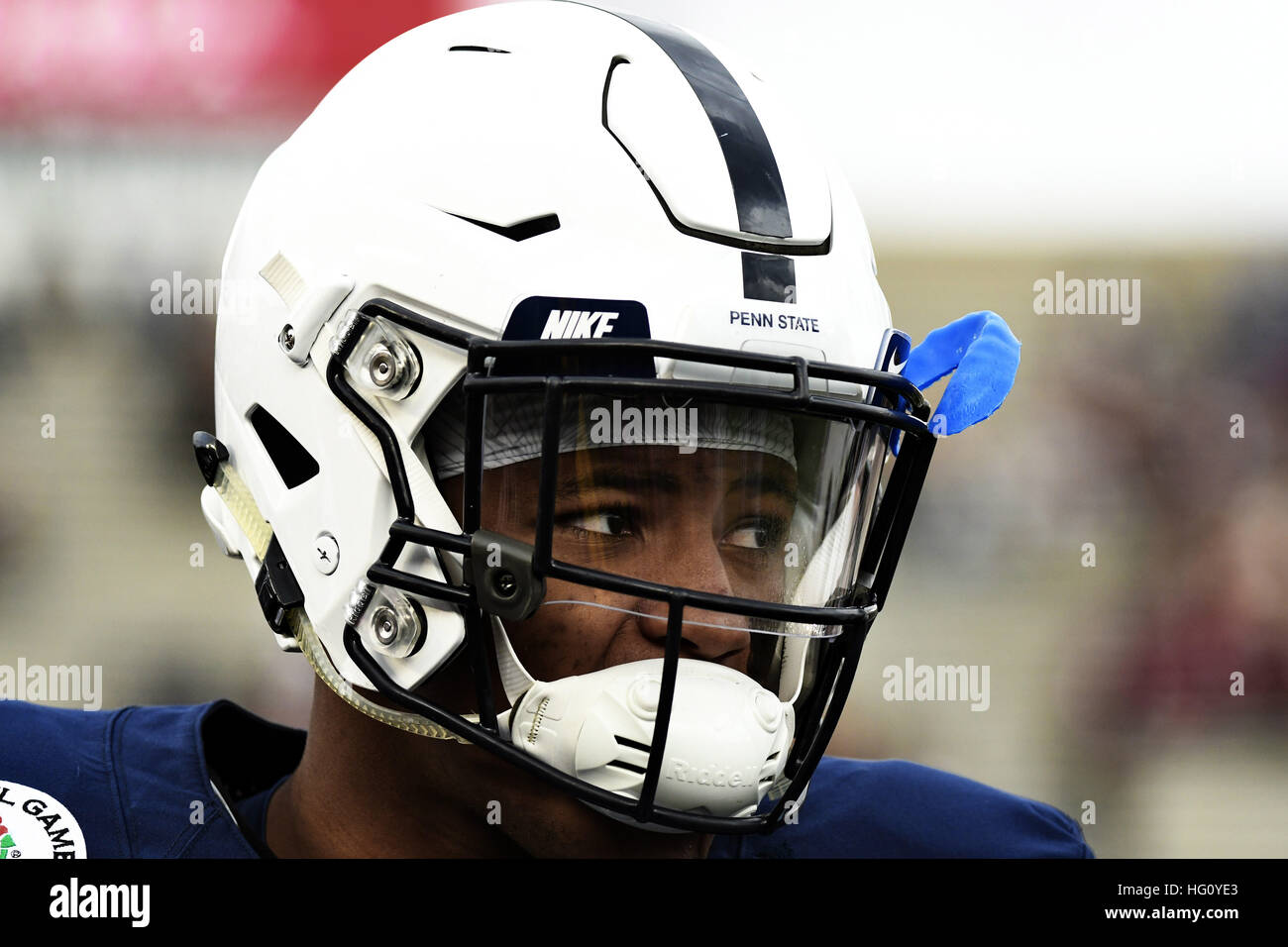 Pasadena, Californie, USA. 2 Jan, 2017. Saquon running back Barkley de la Penn State Nittany Lions en action lors Photo Stock