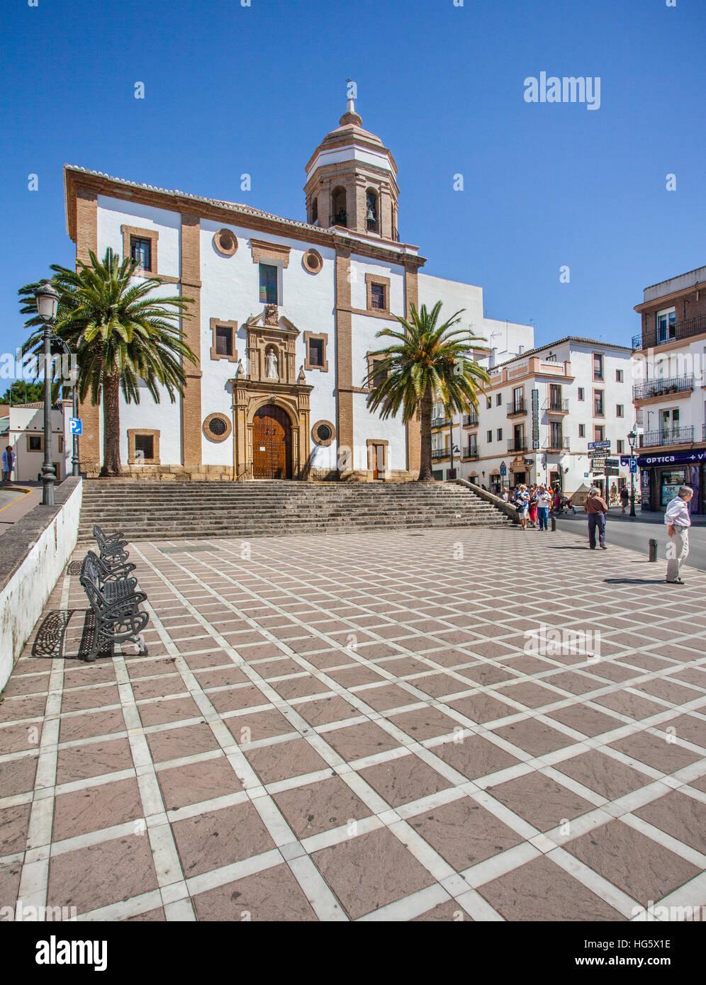 Espagne, Andalousie, province de Malaga, Ronda, 16e siècle Iglesia de Nuestra Señora de la Merced Photo Stock