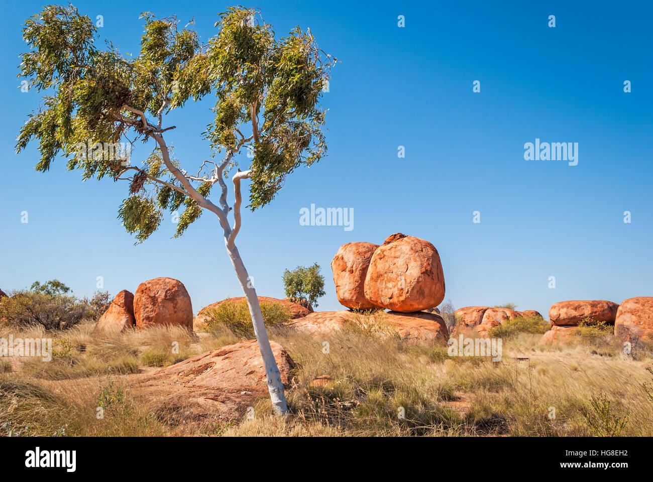 Devils Marbles, Territoire du Nord, Australie Photo Stock