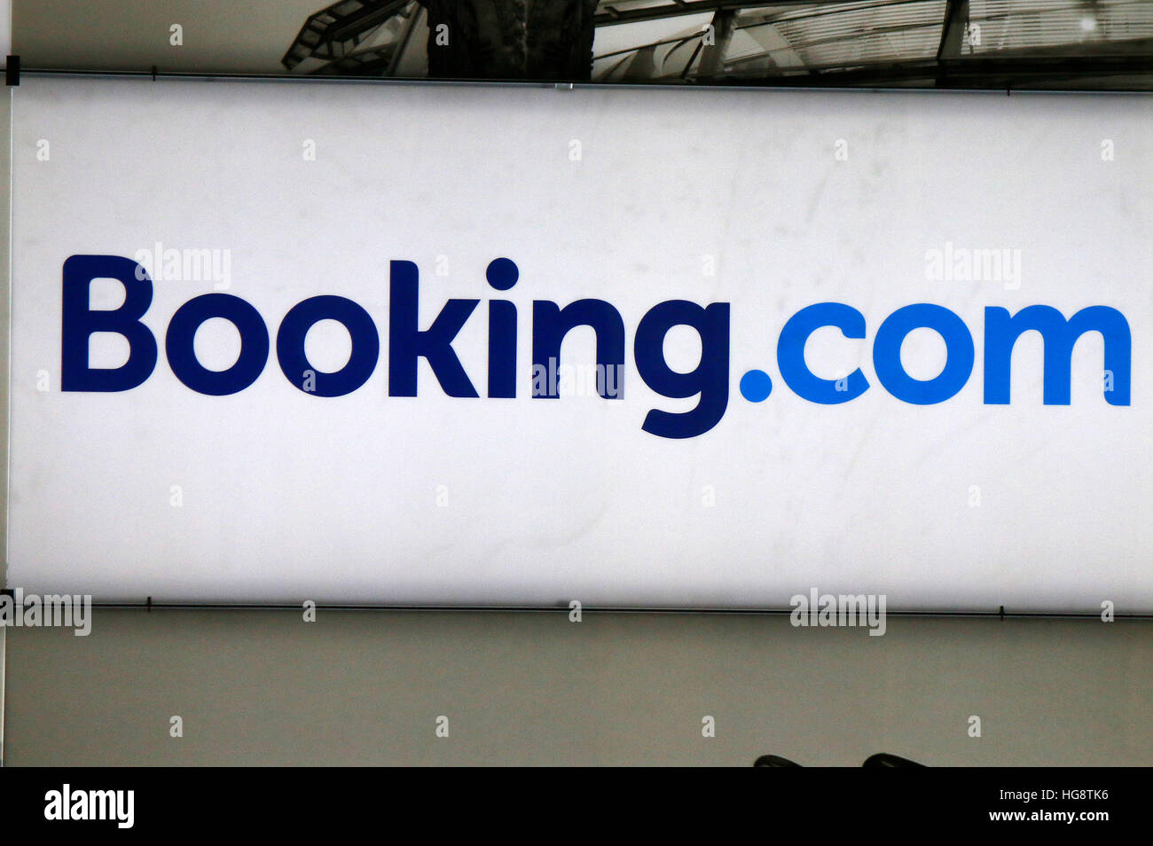 Logo das der Marke 'Booking.com', Berlin. Photo Stock