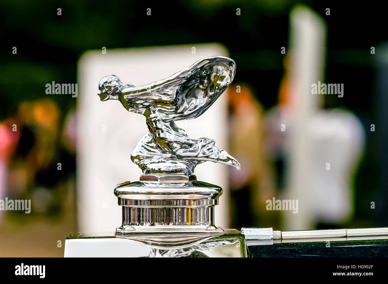 Le symbole d'une Rolls Royce Motor car, l'esprit de l'Ecstacy Photo Stock