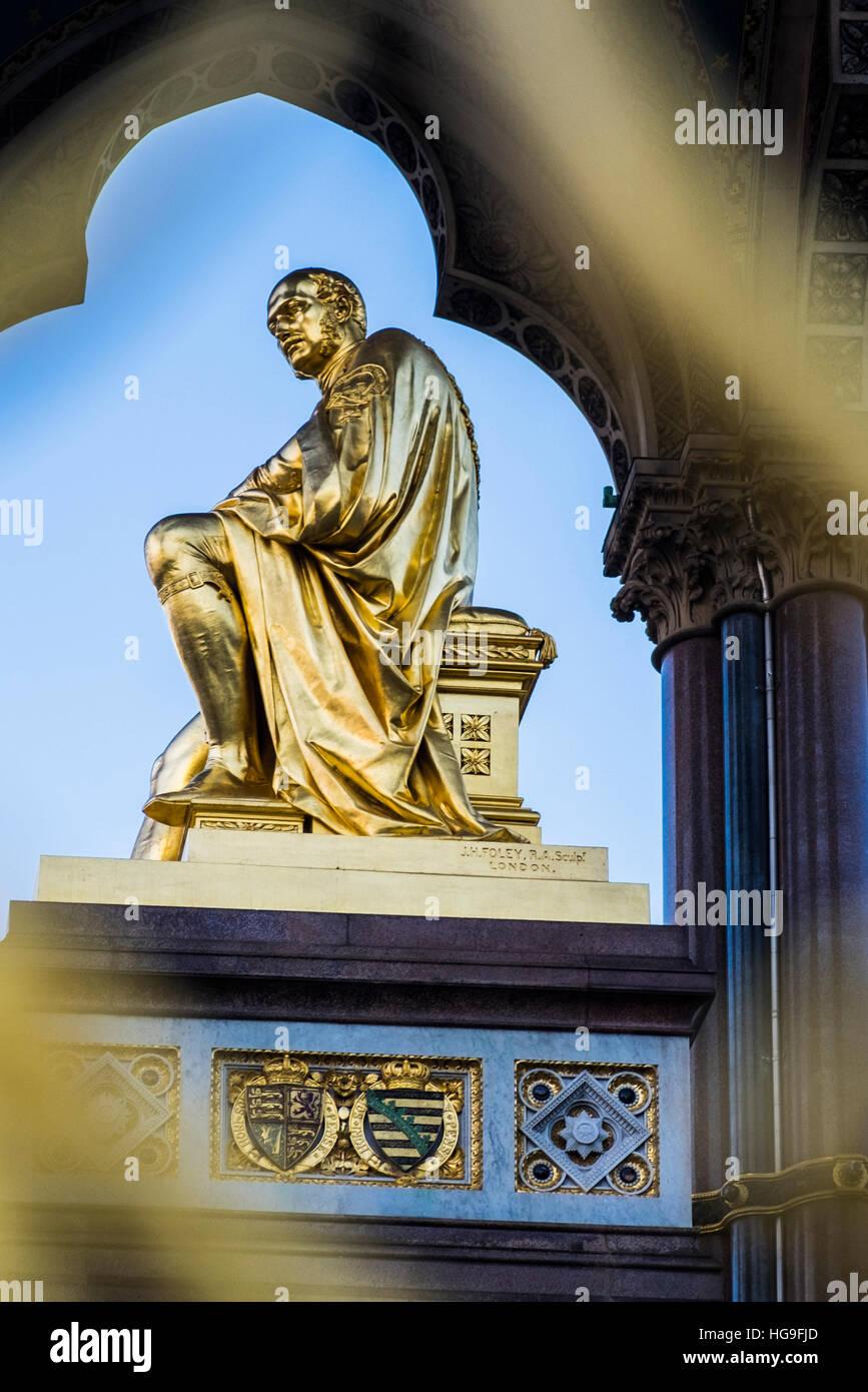 Albert Memorial, Londres, Angleterre, Royaume-Uni Photo Stock