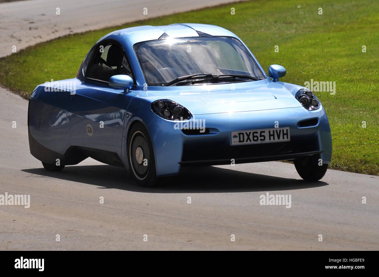 Riversimple a révélé leurs 250 mpg voiture à hydrogène pour les masses, appelé Rasa Photo Stock