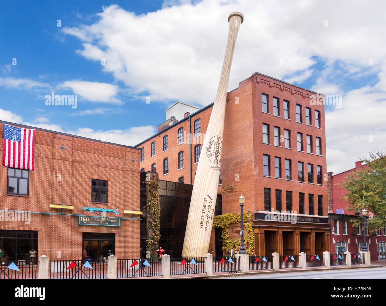Le Louisville Slugger Museum & Factory, Main Street, Louisville, Kentucky, USA Photo Stock