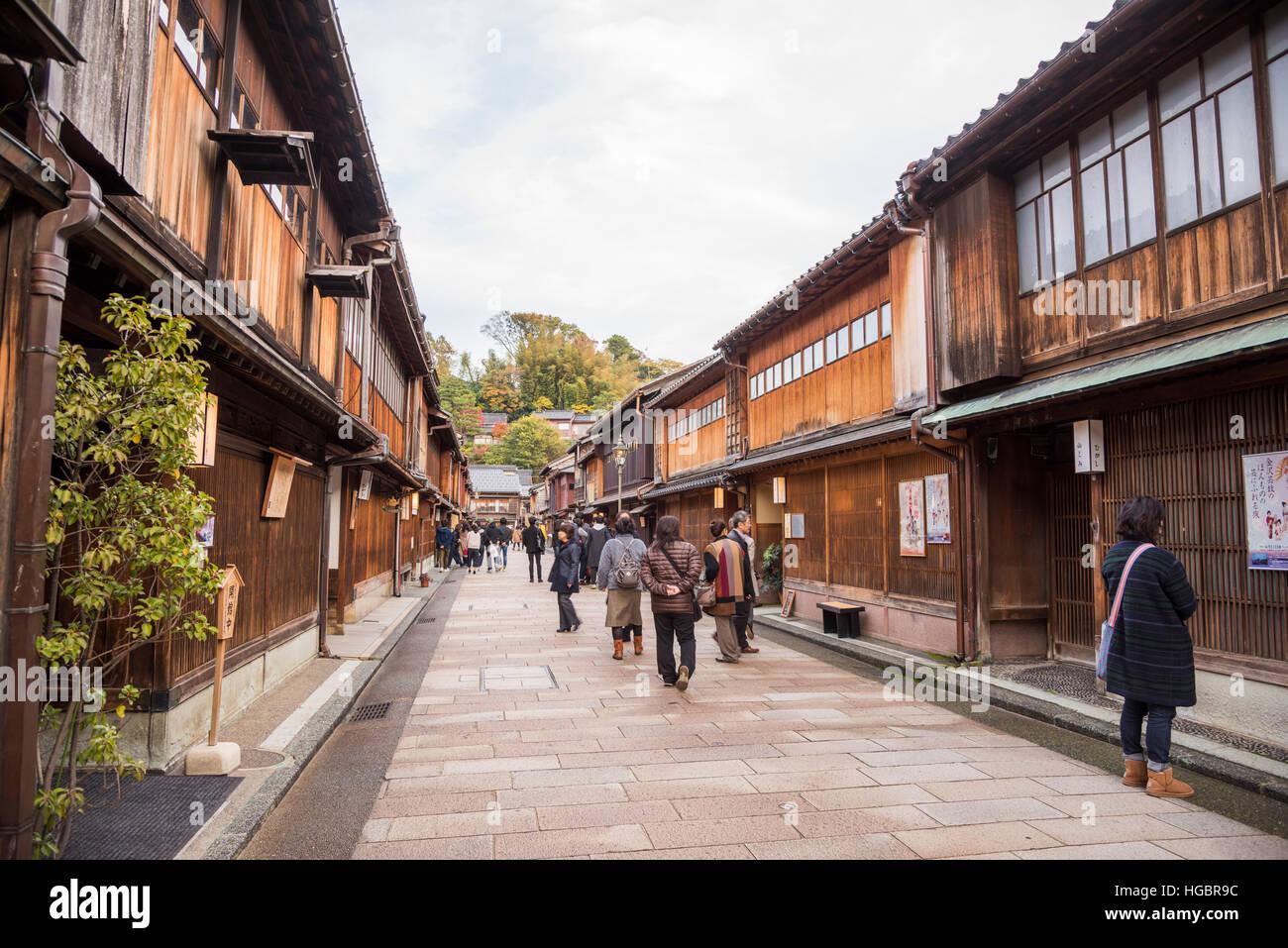 Quartier Higashi Chaya, la ville de Kanazawa, Ishikawa Prefecture, Japan Banque D'Images