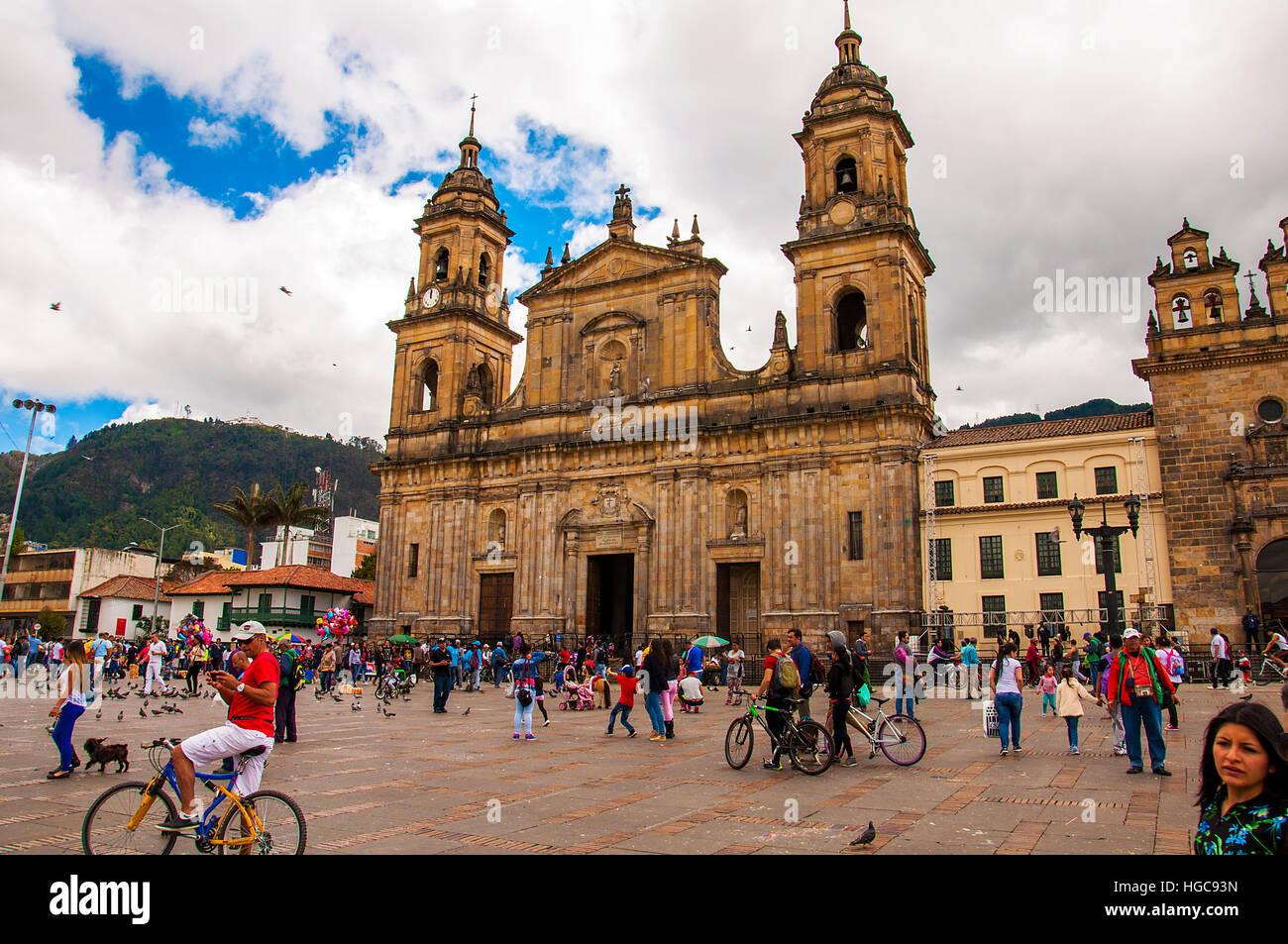 La place Simon Bolivar à Bogota Colombie Photo Stock