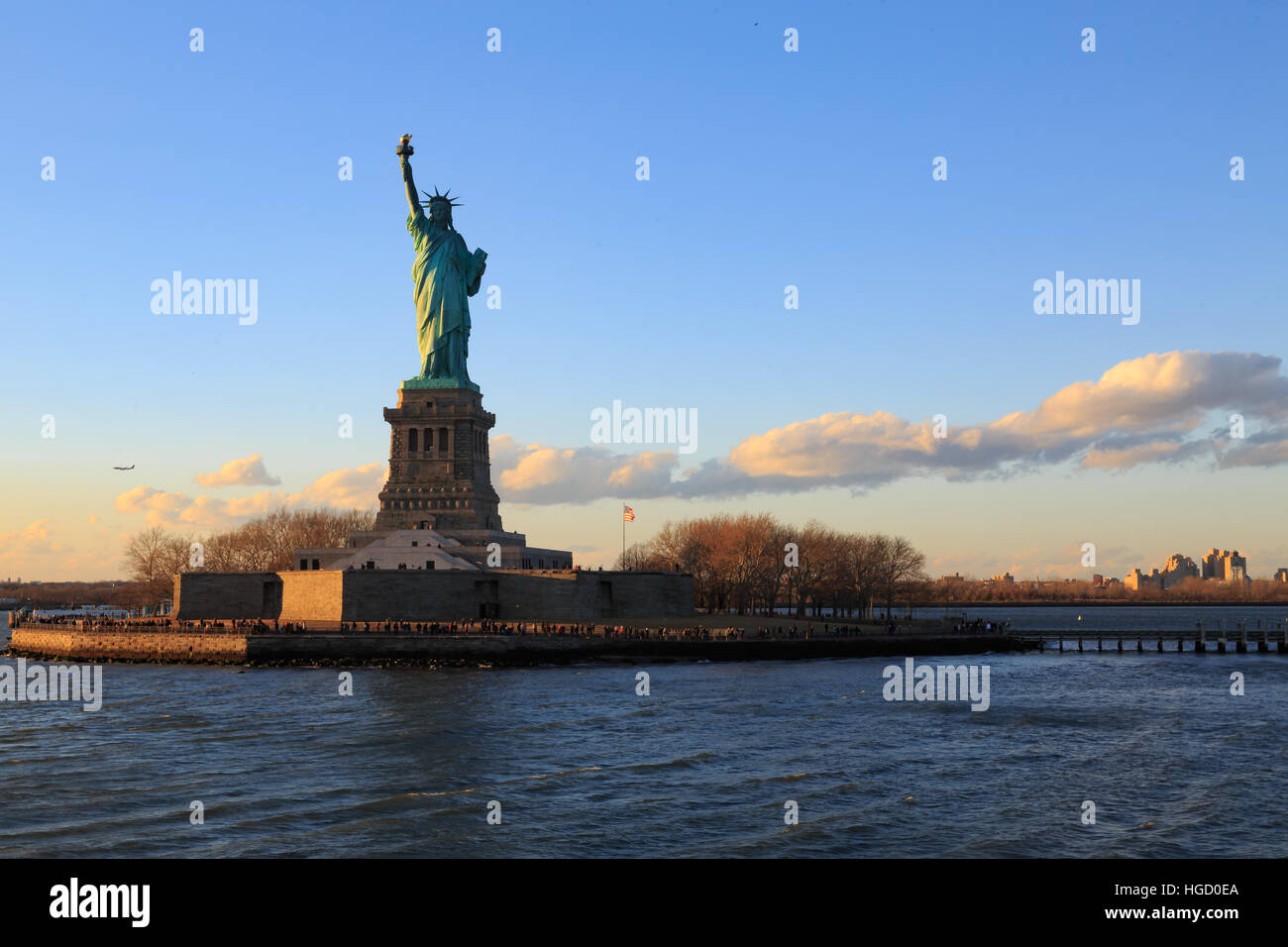 Statue de la liberté new york city. Photo Stock
