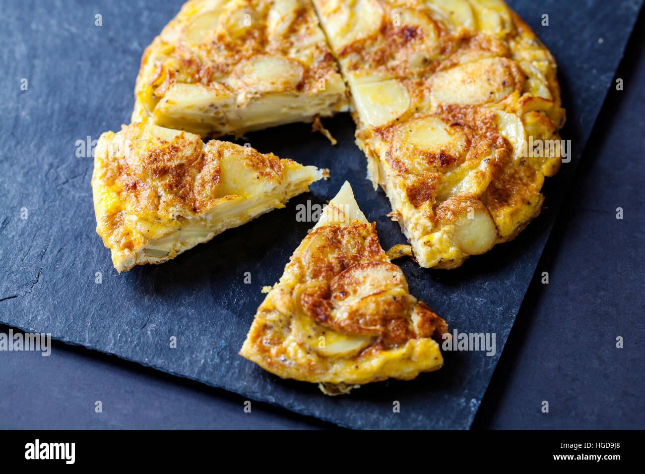Tortilla espagnole authentique Banque D'Images