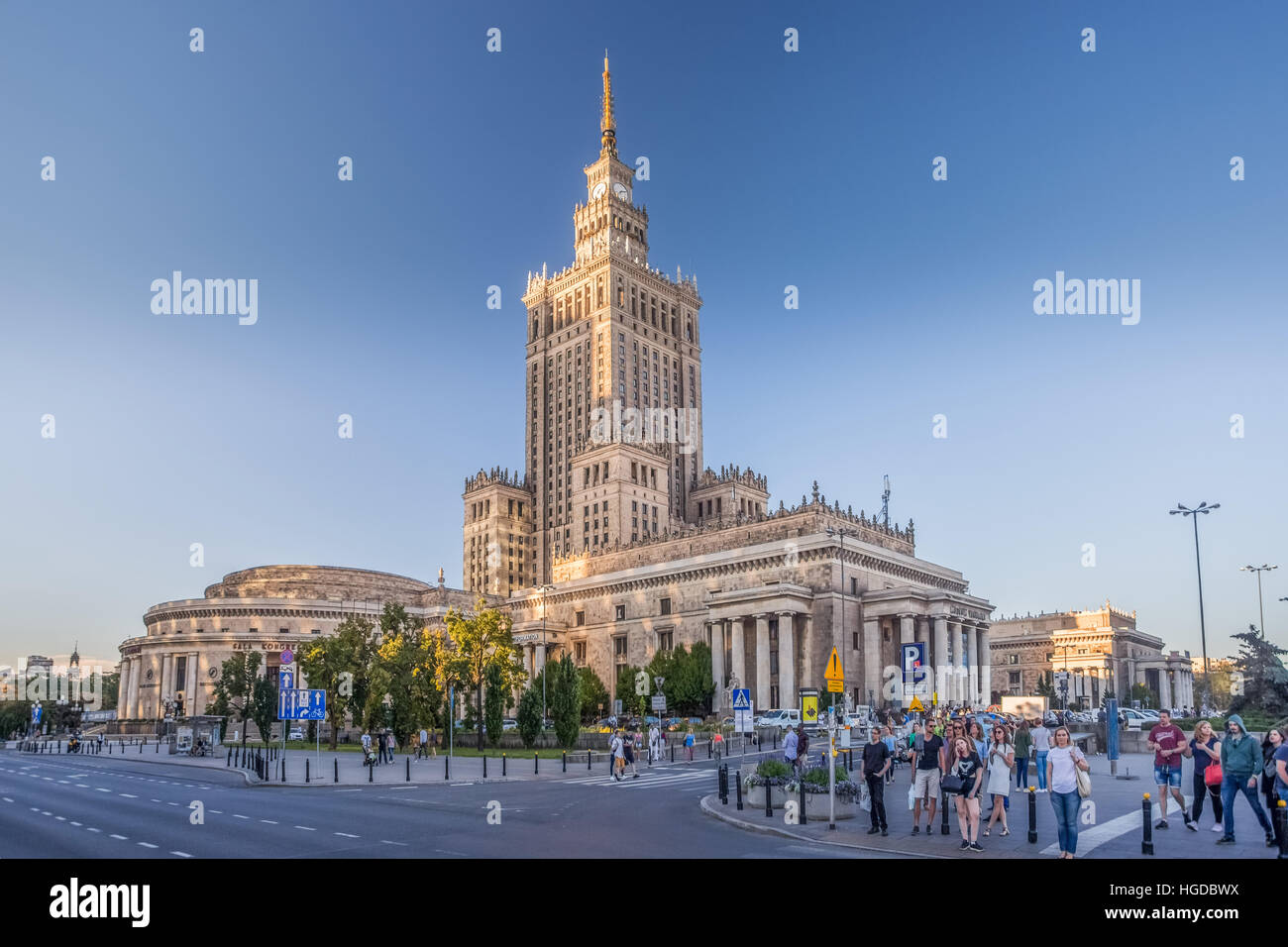 Palais de la Culture et des sciences le bâtiment n La ville de Varsovie Photo Stock