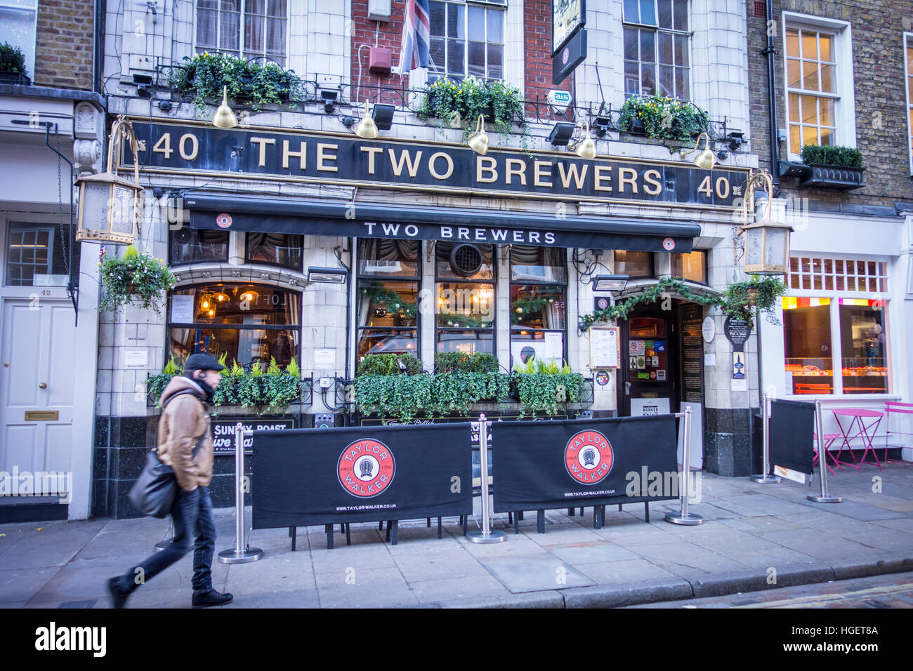 Les deux brasseurs, pub traditionnel sur Monmouth Street, Seven Dials / Covent Garden, London, UK Photo Stock
