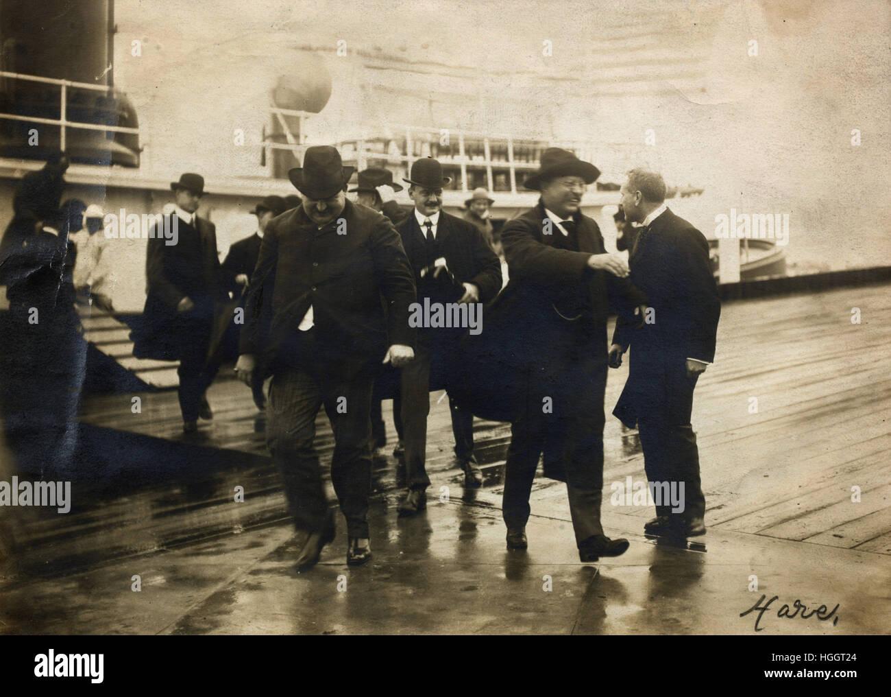 Le président Roosevelt visites Ellis Island 16 Septembre 1903 - Gare de l'Immigration d'Ellis Island Photo Stock
