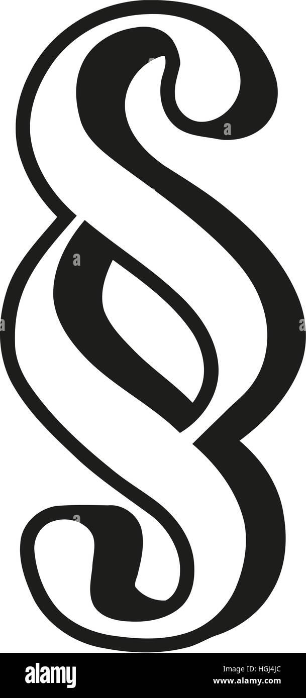 Symbole paragraphe décrit Banque D'Images