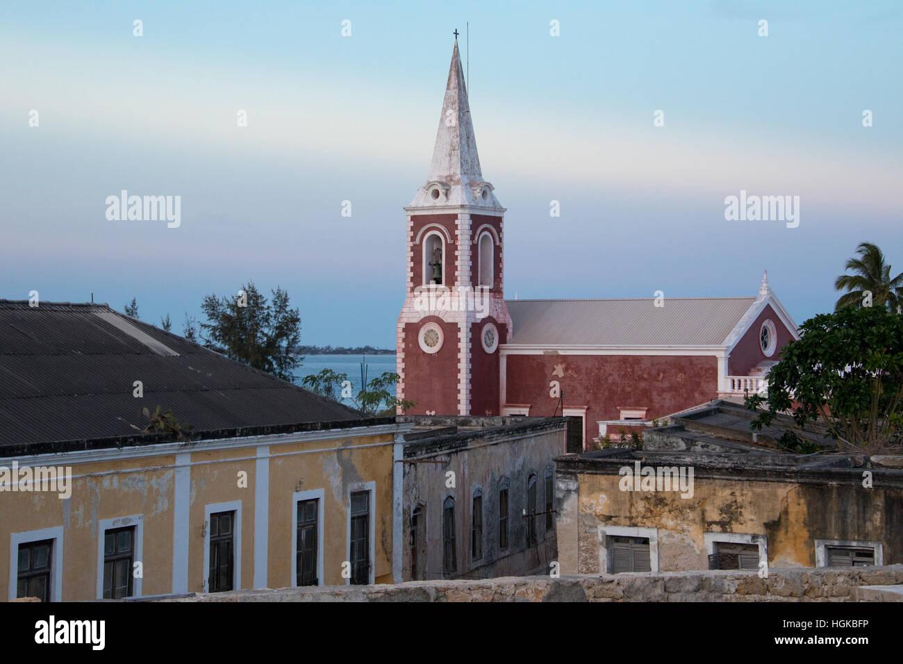 Chapelle de São Paulo sur Ilha de Mozambique, Afrique Photo Stock