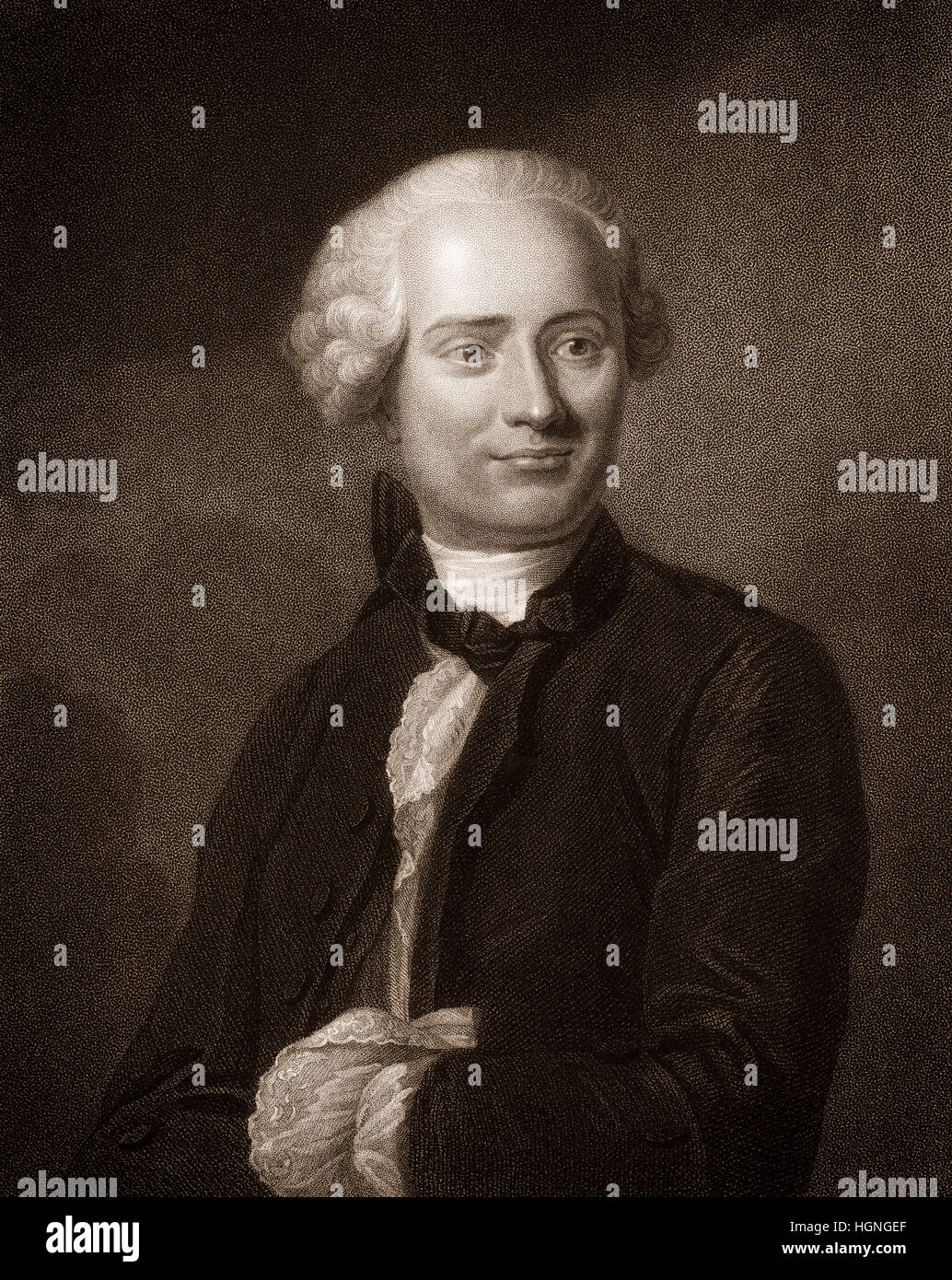 Jean-Baptiste le Rond d'Alembert, 1717-1783, un mathématicien français, scientifique américain, physicien, philosophe Banque D'Images