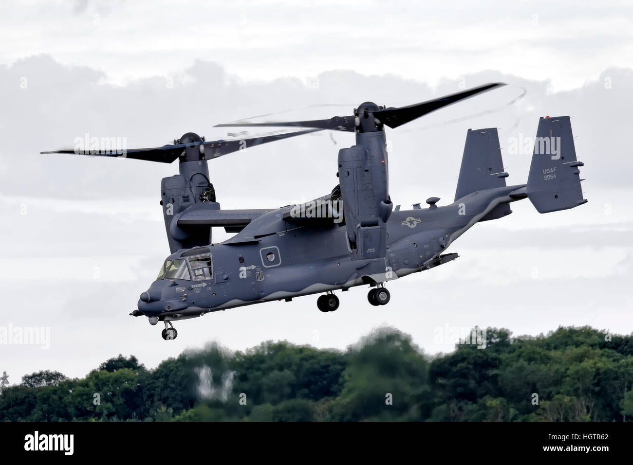 Un United States Air Force, 7e Escadron d'opérations spéciales, Bell Boeing annonce-22B Osprey basé Photo Stock