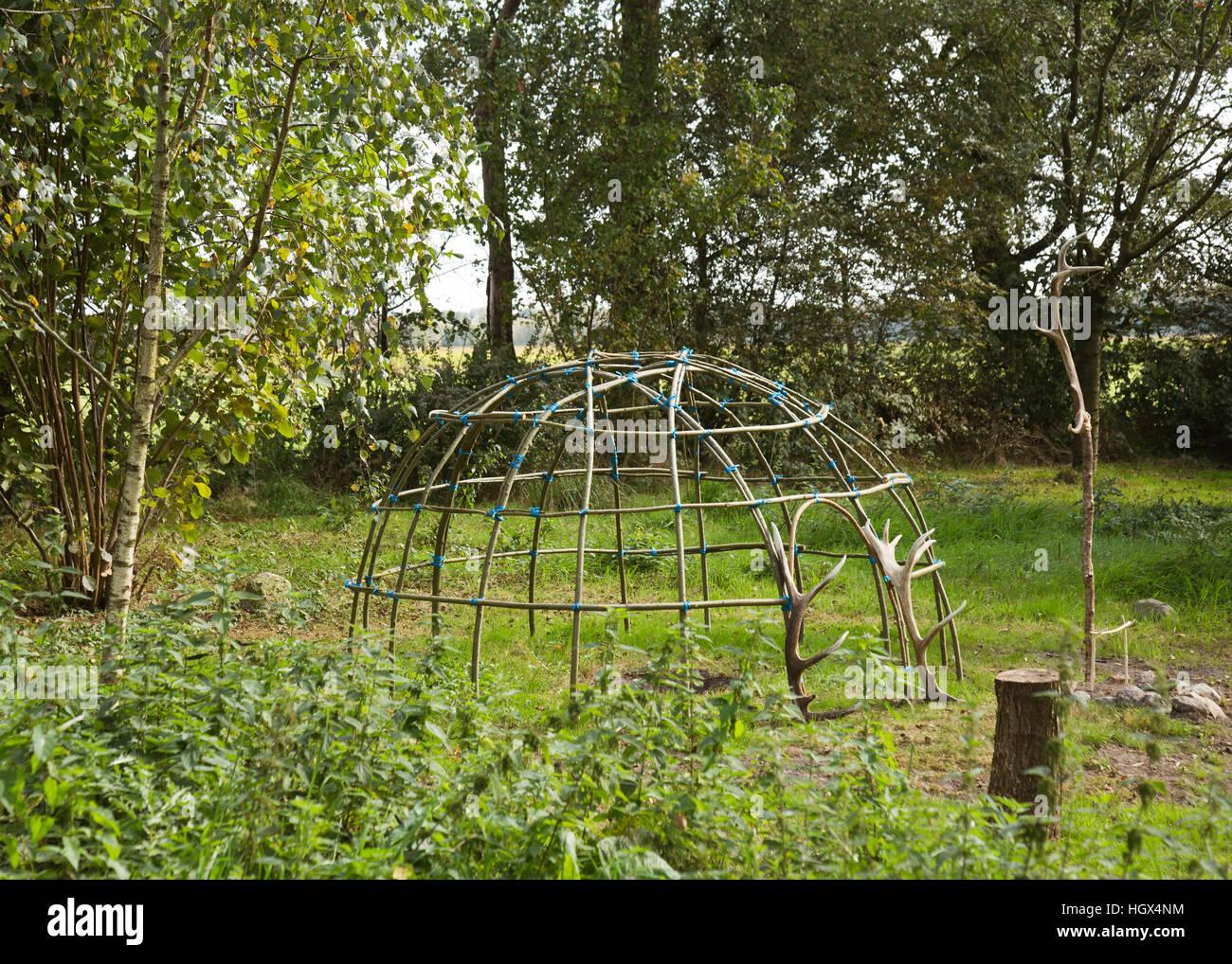 Image de suerie structure utilisée pour les rituels de purification chamanique Photo Stock