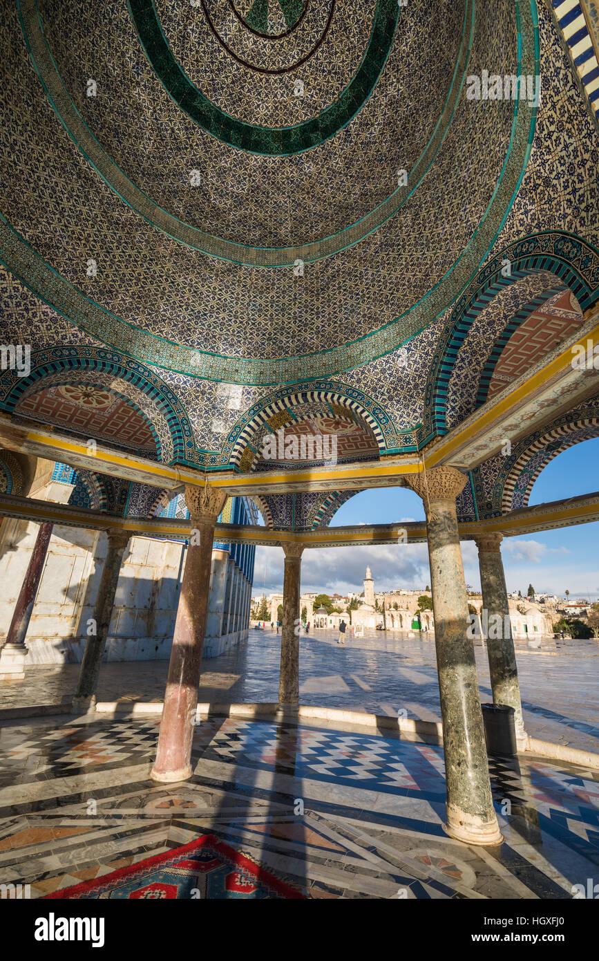 Dôme de la chaîne, le Mont du Temple, de Jérusalem, de l'Asie Banque D'Images