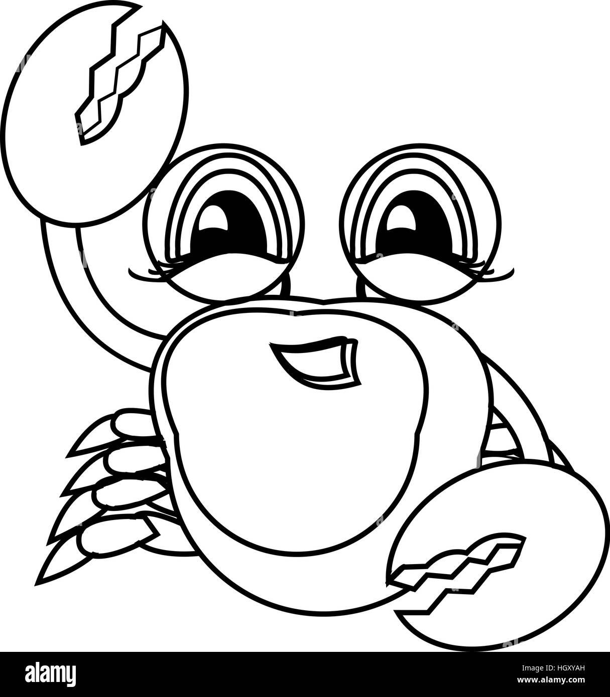 Coloriage Animaux Mer.Livre De Coloriage Animaux De La Mer A La Main Le Crabe