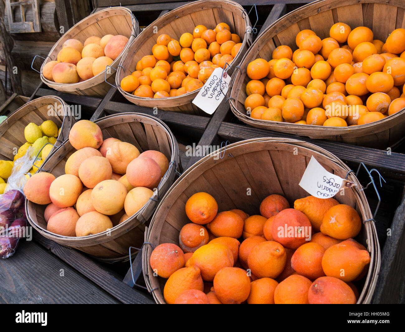 Singh Farms farmer's market, Scottsdale, Arizona. Photo Stock