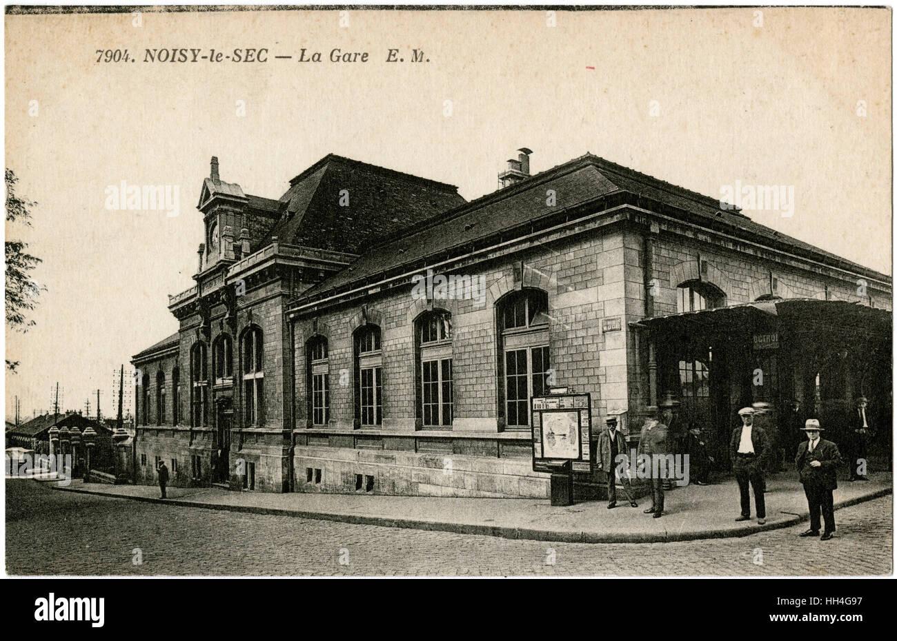 France - la Gare de Noisy-le-Sec, une commune française située dans la banlieue est de Paris. Photo Stock