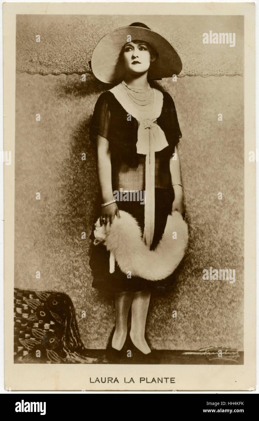 Laura La Plante (1904-1996) - L'actrice américaine de l'époque du film muet. Photo Stock