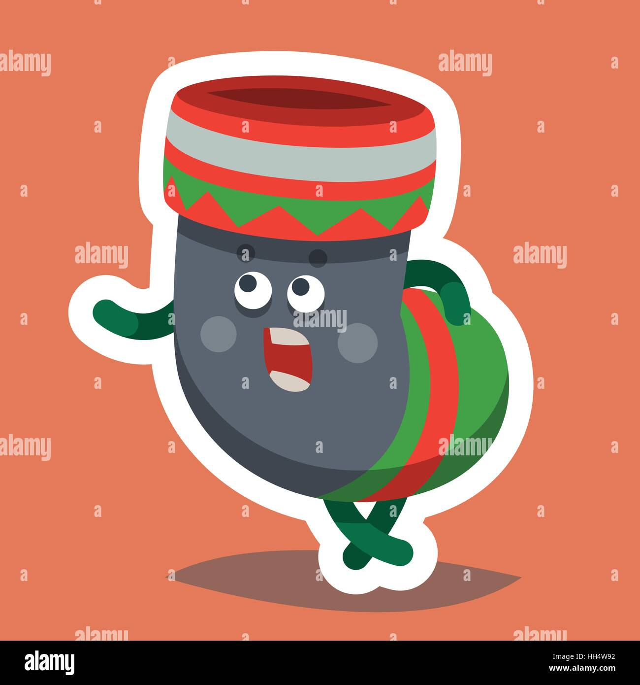 Vector Illustration Emoticone Icone Emoji Sur Le Theme Des Vacances D Hiver Emoticon Automne Noel Et Nouvel An Bonne Annee Sock Image Vectorielle Stock Alamy
