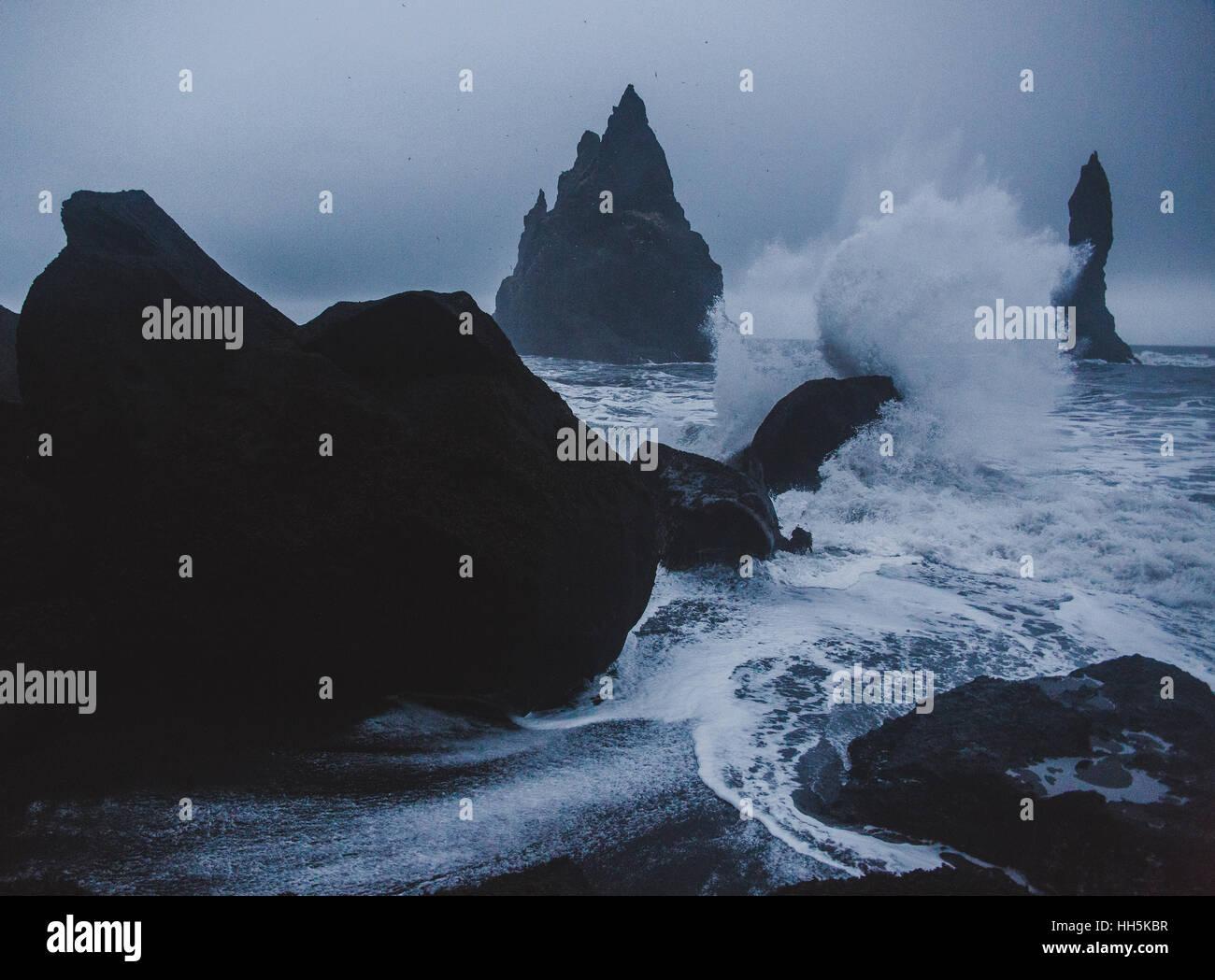 L'Islande en hiver Photo Stock