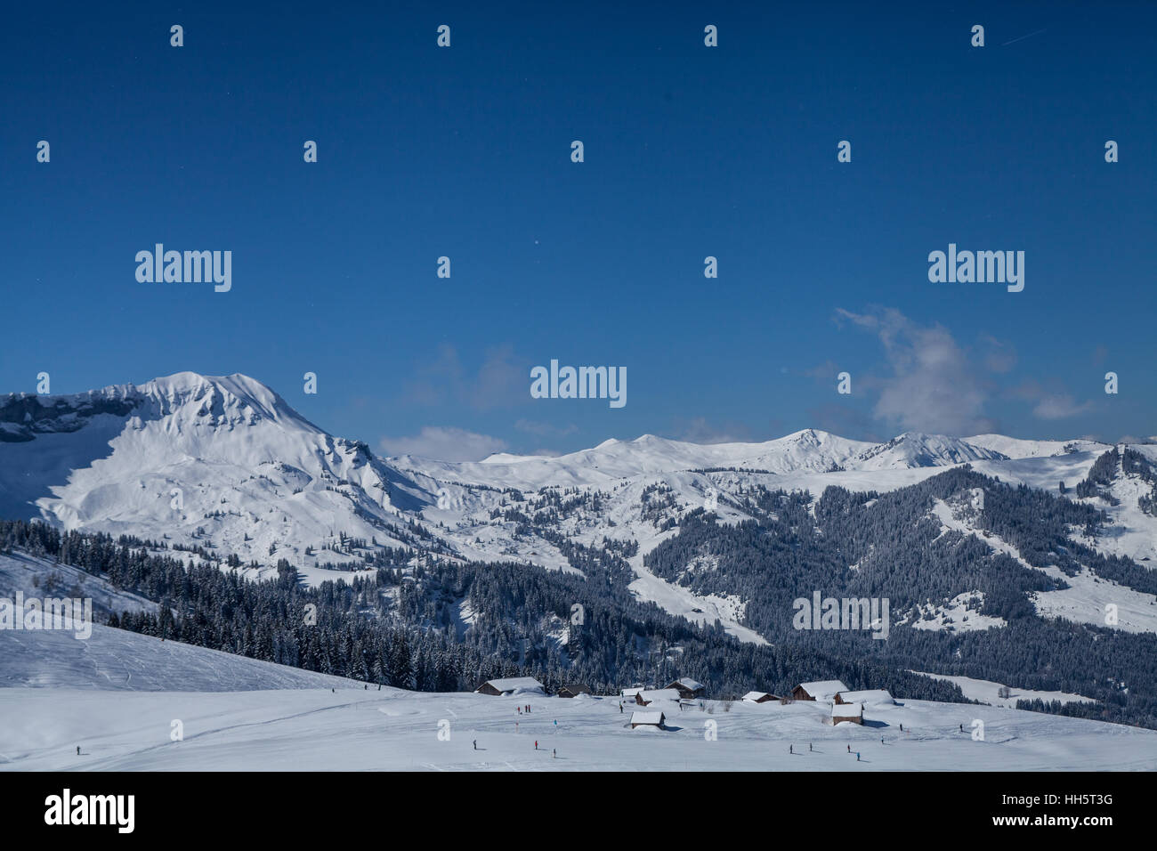 Mont Blanc Ski Resort Photo Stock
