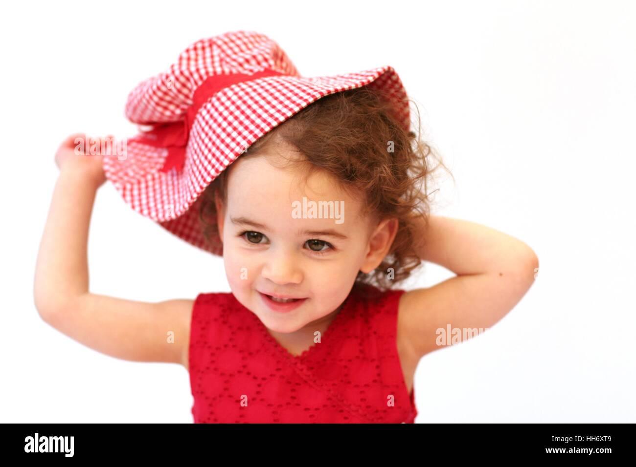 Sweet baby girl child enfant tout-petit avec des cheveux bouclés jouant avec  un imprimé 01f47920d47