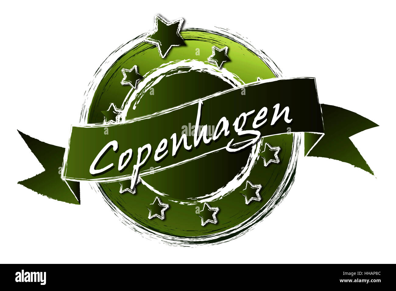 Grunge - Royal Copenhagen Banque D'Images