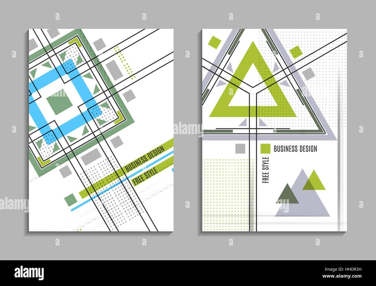 Jeu De Carte Visite Conception Geometrique Abstraite Brochure Feuille Titre Texte Reative La Surface Du Cadre EPS10 Modele