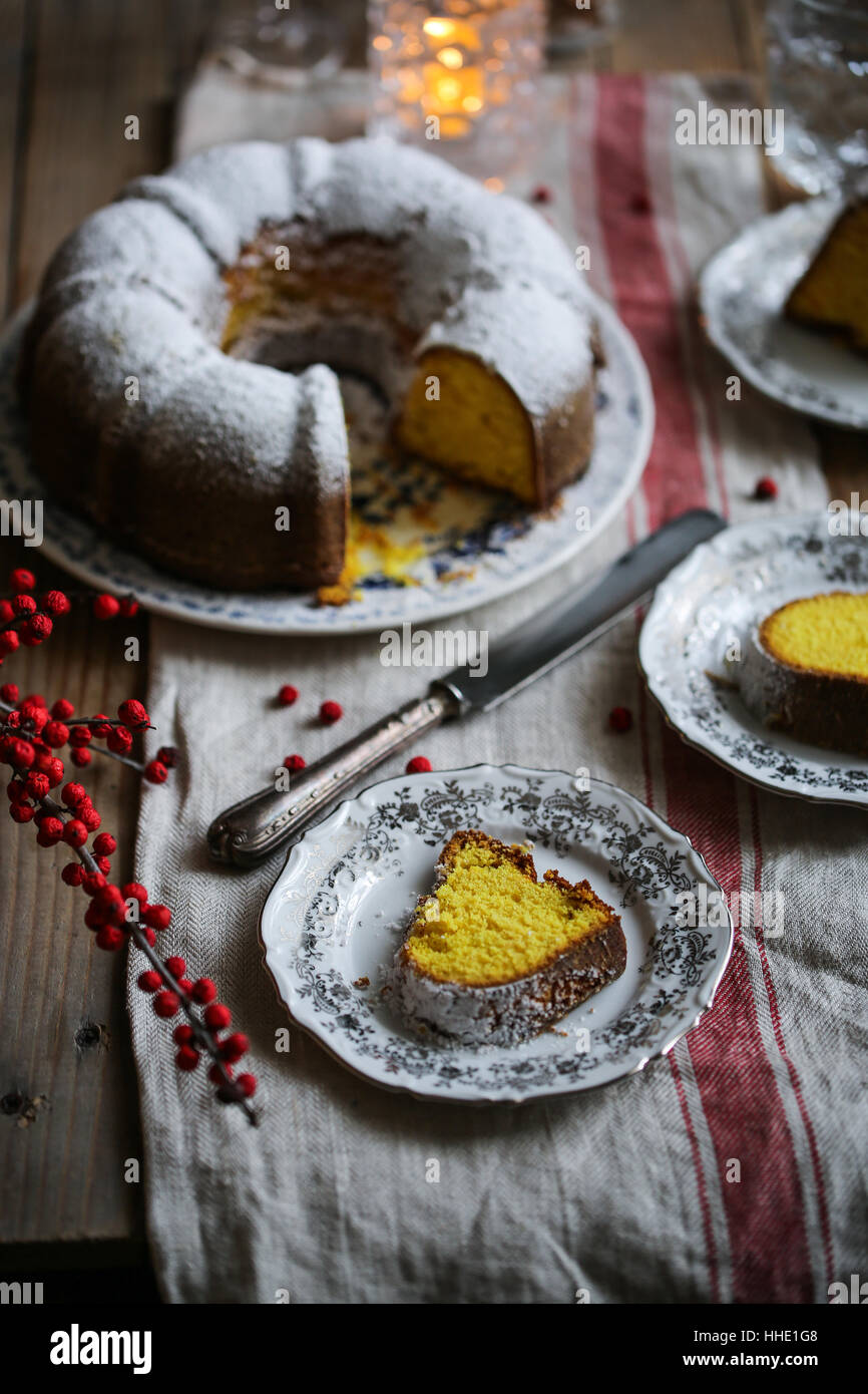 Gâteau bundt Curcuma Photo Stock